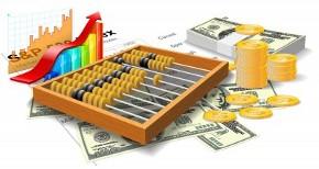 Счеты, деньги, графики
