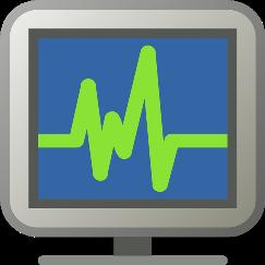 Монитор с пульсирующим графиком