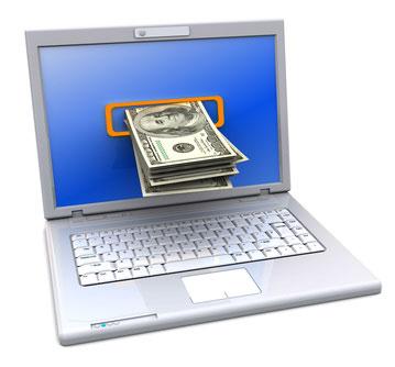 Ноутбук выдает деньги